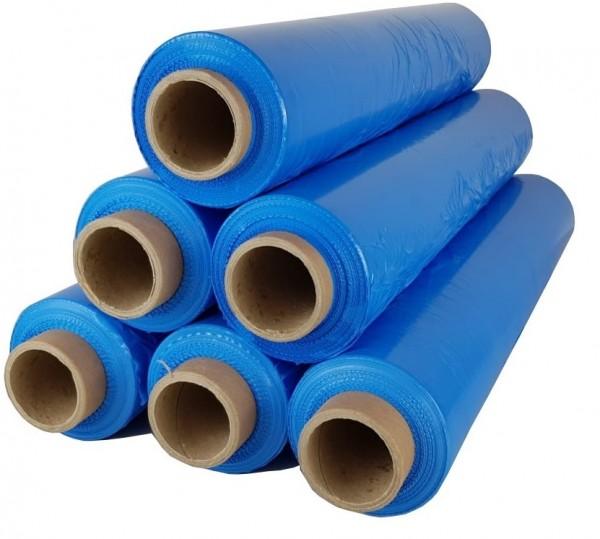 216 Rollen 2,5 kg Stretchfolie 23 my breite 500mm blau