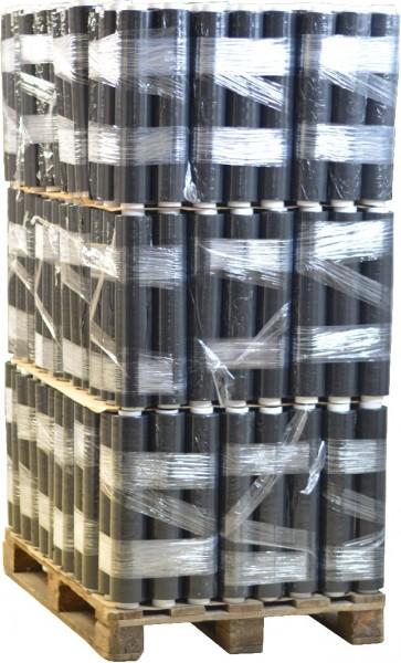 288 Rollen 1,5 kg Stretchfolie 23 my breite 500mm schwarz