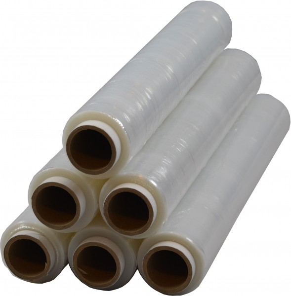 6 x Rollen Stretchfolie 1,5 kg 23 my Transparent