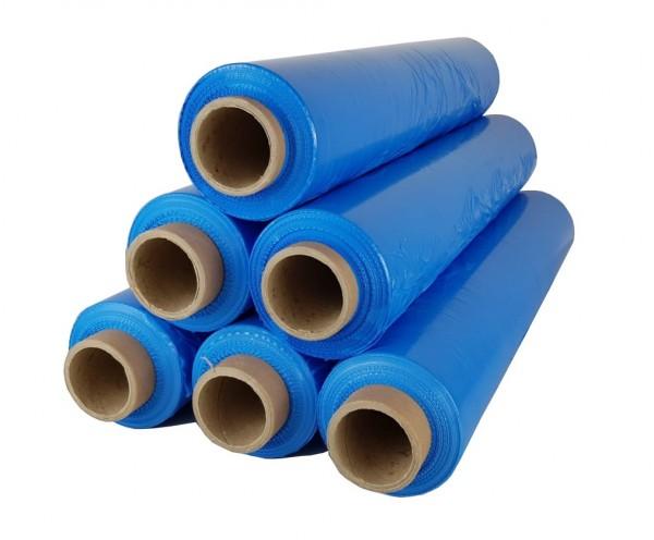 6 x Rollen Stretchfolie 2,5 kg 23 my Blau