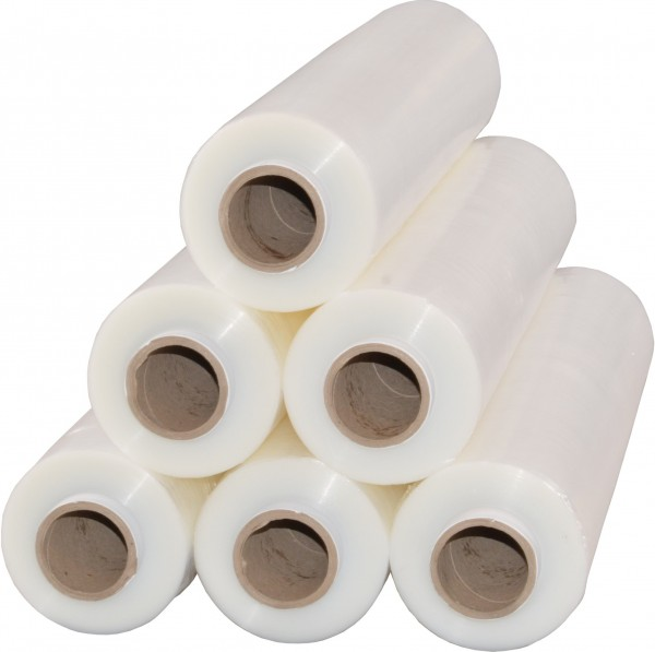 6 x Rollen Stretchfolie 2,5 kg 23 my Transparent