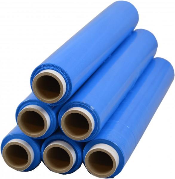 288 Rollen 1,5 kg Stretchfolie 23 my breite 500mm Blau
